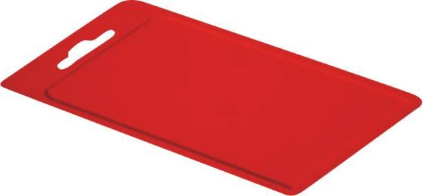 POLYSET All Chop Cutting Board, Red Plastic Cutting Board
