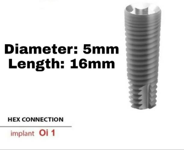 Navkar Surgical Company Dental Spiral Implant with Abutment 5.0mm×16mm Dental Implant
