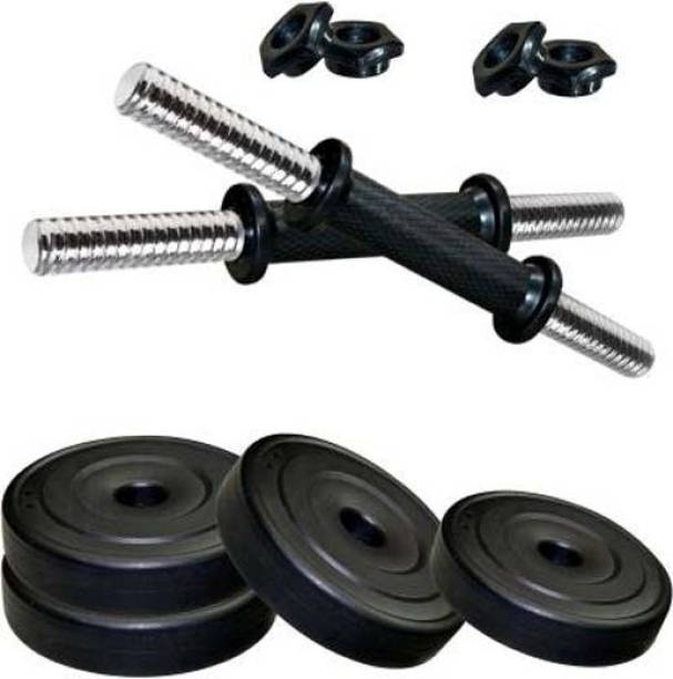Mahadev Sports 12 kg Pvc weight with 2 Dumbbell rods Adjustable Dumbbell