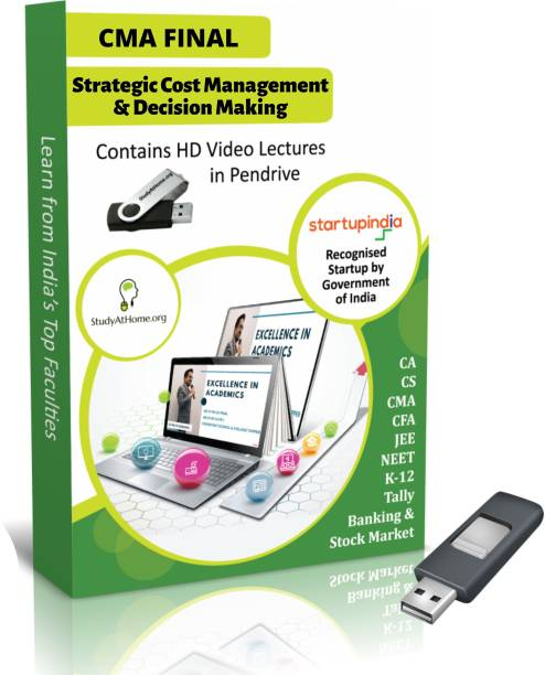 Study At Home Strategic Cost Management | CMA Final Paper 15 | Video Lecture