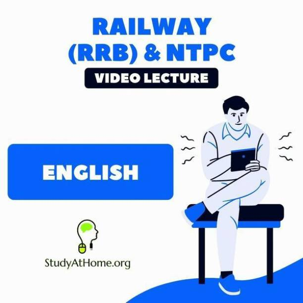 Study At Home English for Railway (RRB) & NTPC | Video Lecture