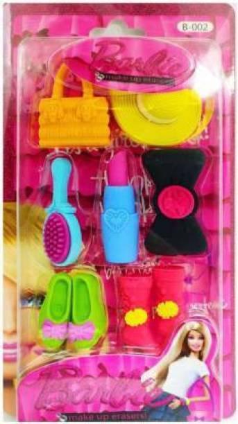 AMB BARBIE DOLL ERADER SET FOR GIRLS Non-Toxic Eraser