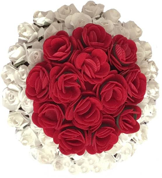 GadinFashion New Artificial Flower Bun Juda/Accessories Gajra, Full Bun For Women, Grils, Color-Multi, Pack-01 Bun