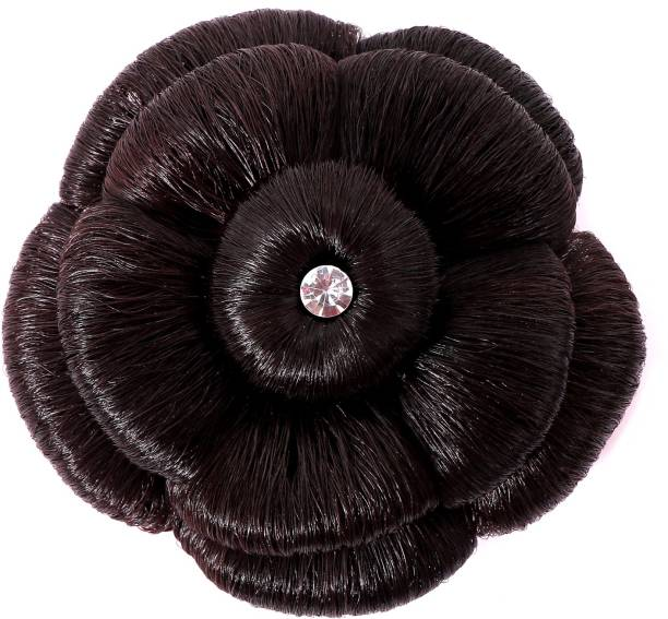 Shivarth Black Color Artificial Juda Hair Accessories For Women and Girls with Stone Work Juda For Festive Designer Stone Bridal Wedding Juda Bun