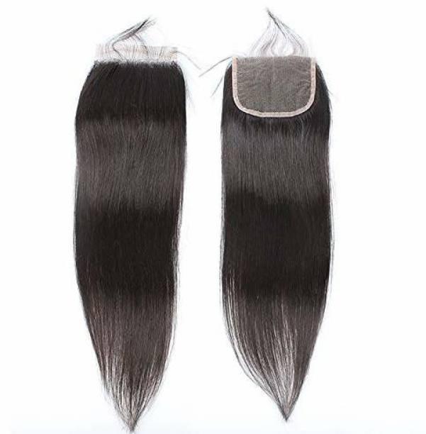 liya Virgin  Straight Remy Human  Lace Closure 16 inch Hair Extension