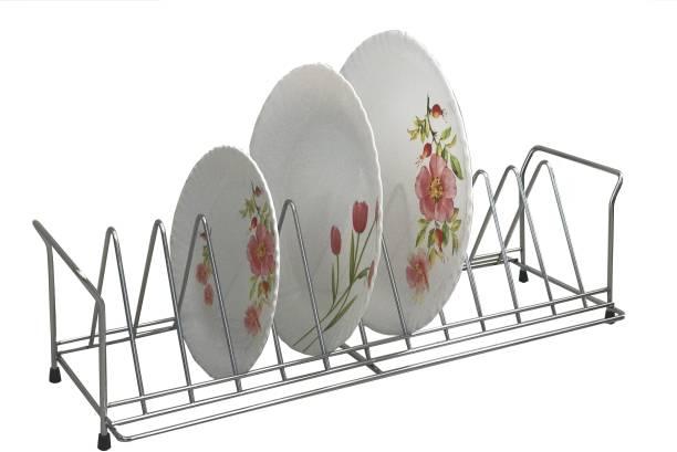 SMART SLIDE Stainless Steel Anti - Rust Thali Store Kitchen Stand - - Kitchen Rack - Kitchen Holder - Kitchen Accessories Plate Kitchen Rack
