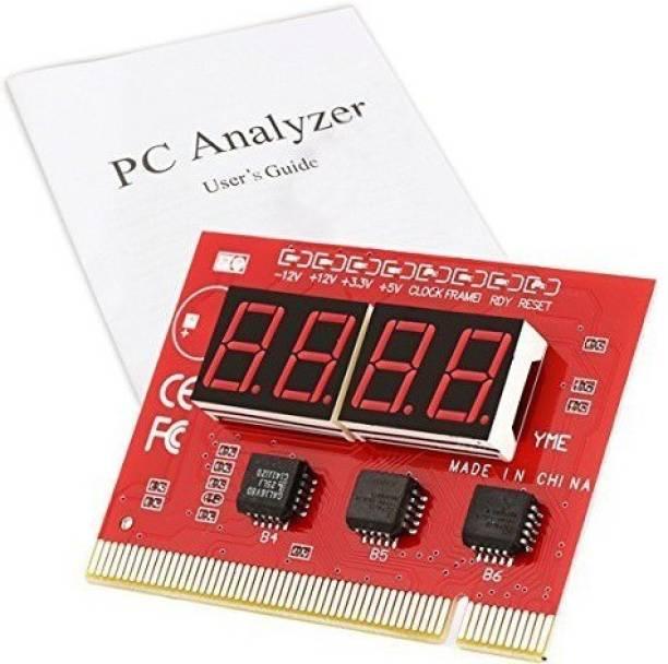 JAMUS 4 Digit Debug Card Testing With Manual Motherboard (Red) Motherboard