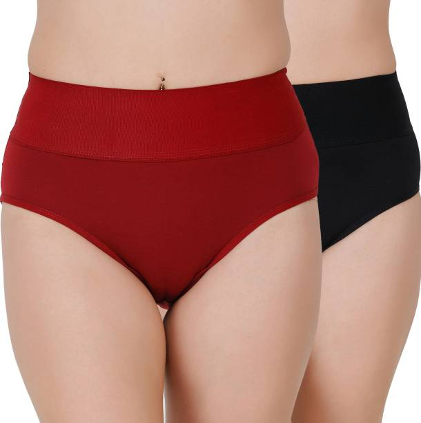 Docare Women Hipster Maroon, Black Panty