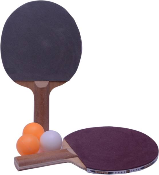 Trady Ultimate 2 TT Racquet With 3 Balls Multicolor Table Tennis Racquet