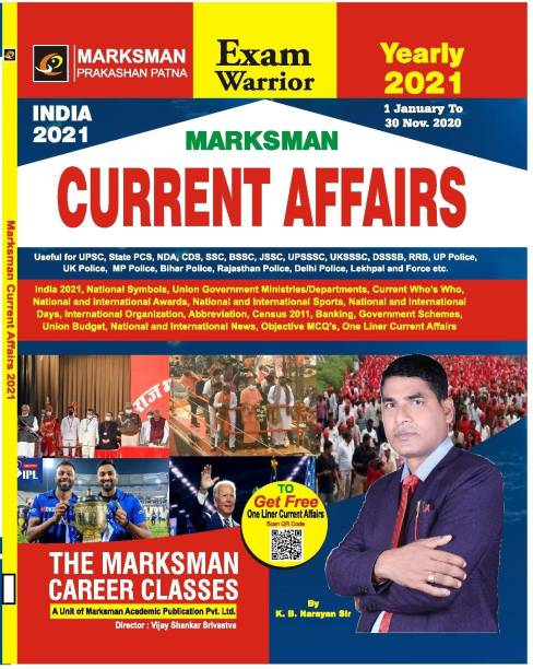 Current Affairs Annual 2021 Latest Update 30-11-20 Marksman
