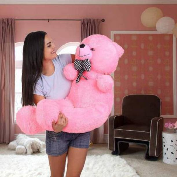 MAHADEV 3 feet pink teddy bear most beautiful teddy and cute and soft love teddy - 91 cm (Pink)  - 91 cm