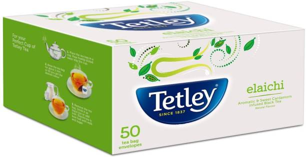 tetley Elaichi Tea Bags - 50 Envelopes Black Tea Bags Box