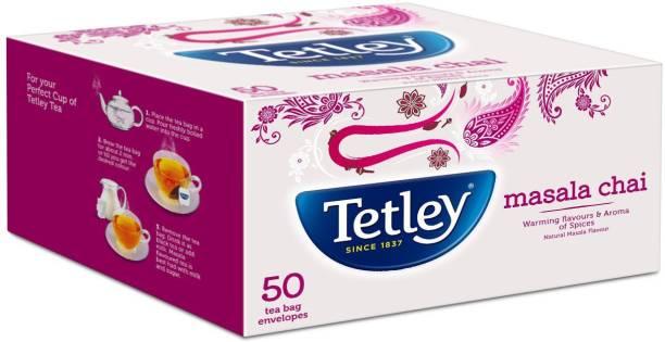 tetley Masala Tea Bags - 50 Envelopes Black Tea Bags Box
