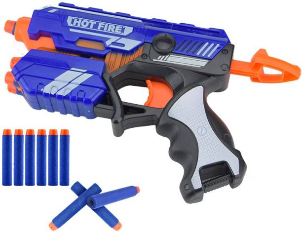Toyshack Manual Blaze Storm Gun Blaster with 10 Foam Bullets for Kids Guns & Darts