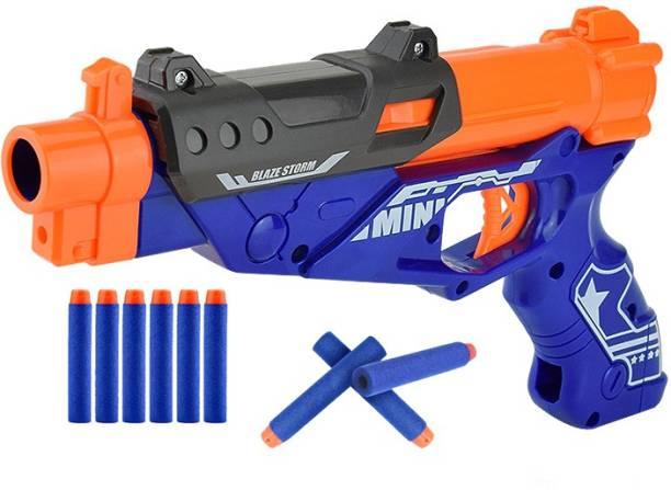 Toyshack Manual Cowboy Pistol Blaze Gun with 10 Foam Bullets for Kids Guns & Darts