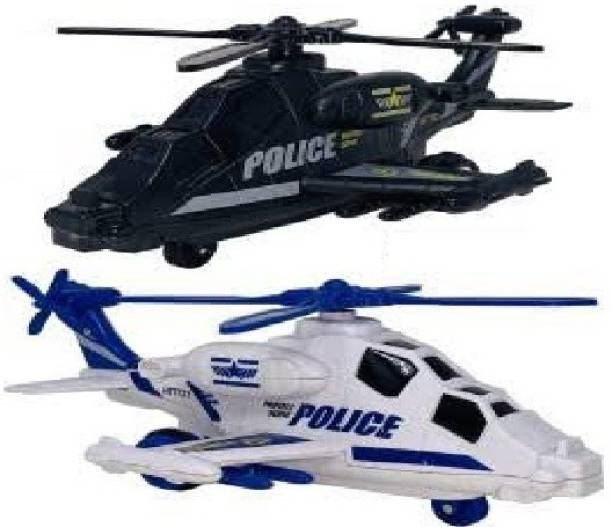 TEMSON Friction Powered Stylist Helicopter Toy for Kids with Colorful 3D Lights And Music