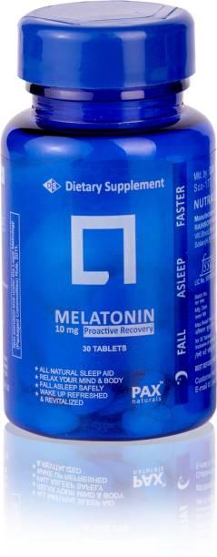 paxnaturals Melatonin 10 mg Promotes Relaxation & Sleep, Helps Improve Sleep Quality