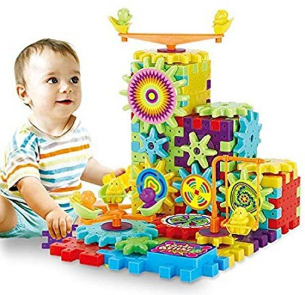 Chocozone Battery Operated 81pcs Rotating Building Blocks with Gears for STEM Learning, Educational Building BlockBattery Operated 81pcs Rotating Building Blocks with Gears for STEM Learning, Educational Building Blocks Toys for 5 Years Old Girls and Boys