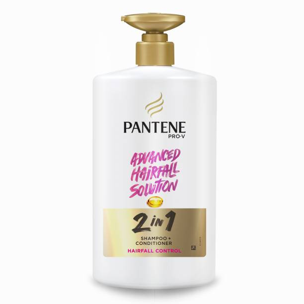 PANTENE 2 in 1 Hairfall Control Shampoo + Conditioner, 1 L