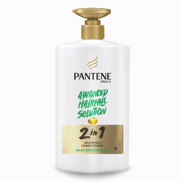 PANTENE Advanced Hairfall Solution, 2in1 Anti-Hairfall Silky Smooth Shampoo & Conditioner Shampoo