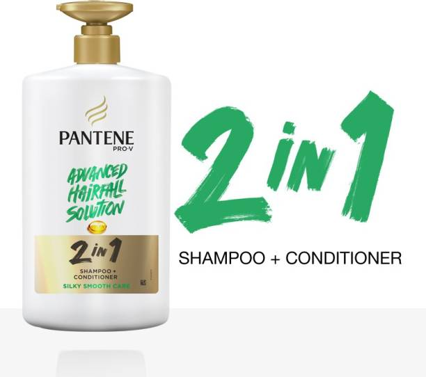 PANTENE 2 in 1 Silky Smooth Care Shampoo + Conditioner, 1 L