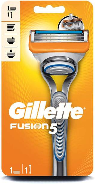 GILLETTE Fusion Men's Grooming Razor 5 Blades+ Precision Trimmer for Beard Styling (1 pc)