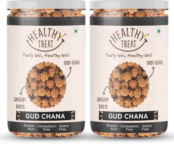 Healthy Treat Gur Chana 400 gm ( Pack of 2 - 200 gm each ) || Immunity Booster