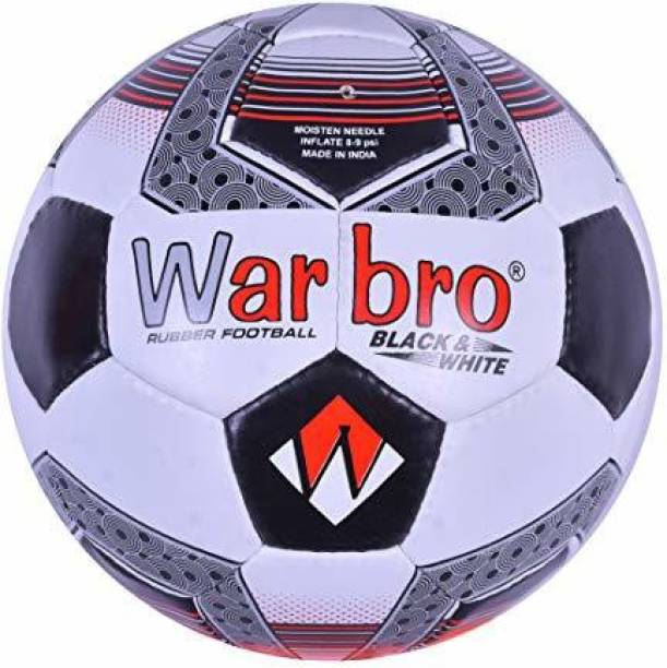 WARBRO BLACK & WHITE SYNTHETIC RUBBER Football - Size: 5