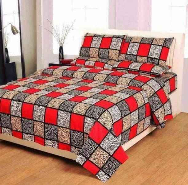Exotic 140 TC Microfiber Double King Checkered Bedsheet