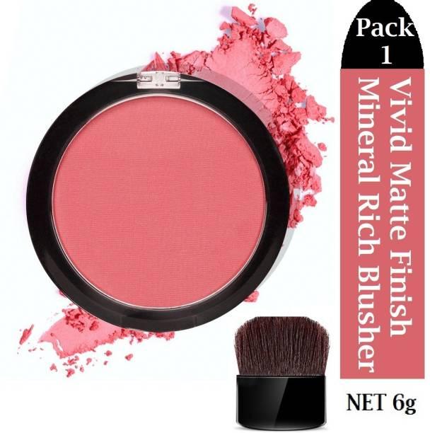 tanvi27 Makeup Blush Natural Glow Powder Long Lasting Blush Pigmented Baked Cheek Rouge Matte Cosmetic Face Make up