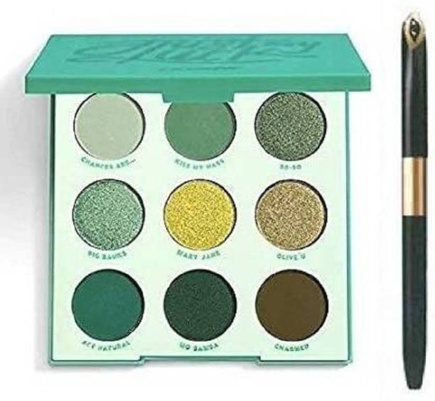 GFSU BEST SHIMMER AND MATTE EYE SHADOW WITH BLACK EYE LINER
