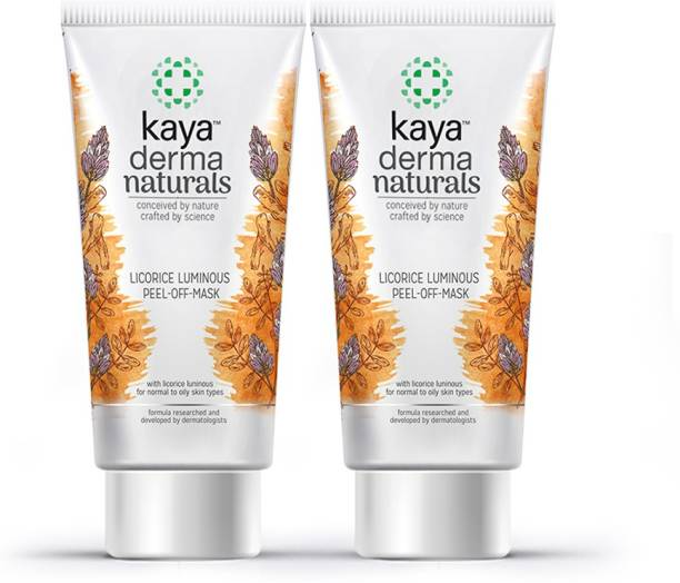 KAYA Licorice Luminous Peel-Off Mask, for normal to oily skin types, 50 ml (Pack of 2)
