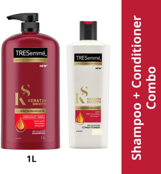 TRESemme Keratin Smooth Shampoo( 1 LTR) With Keratin Smooth Conditioner(340ML)