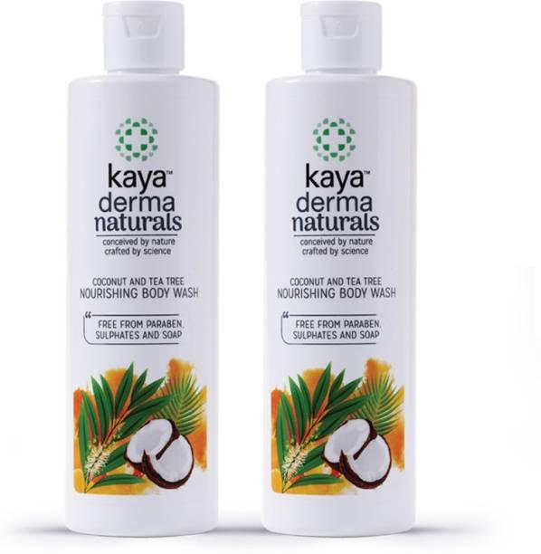 KAYA Coconut and tea tree oil Nourishing Body Wash, Shower Gel (Pack of 2)