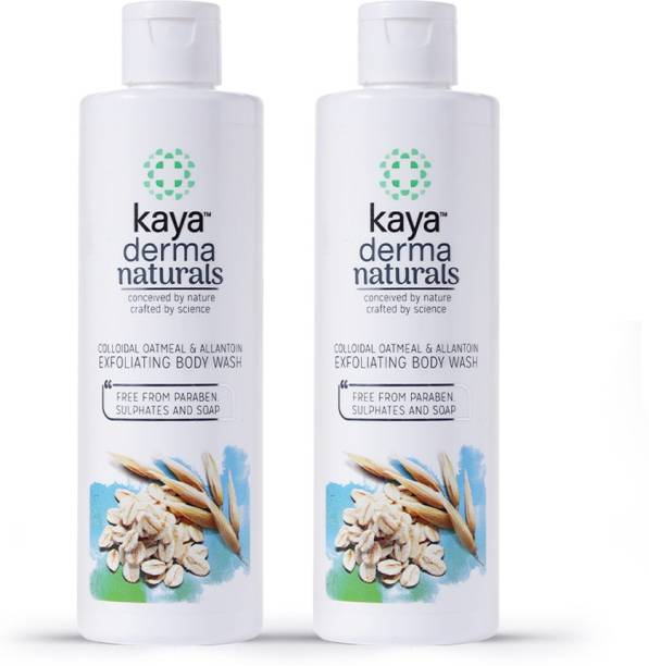KAYA Colloidal oat meal and Allantoin Exfoliating Body Wash, Shower Gel (Pack of 2)