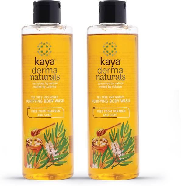 KAYA Tea tree and Honey Purifying Body Wash, Shower Gel (Pack of 2)
