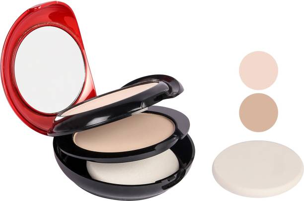 MARS 2 in 1 Carese BB Silky Skin Matte Compact Powder Compact