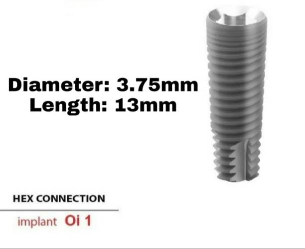 Navkar Surgical Company Dental Spiral Implant with Abutment 3.75mm×13mm Dental Implant