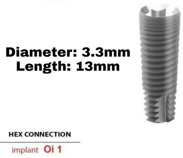 Navkar Surgical Company Dental Spiral Implant with Abutment 3.3mm×13mm Dental Implant
