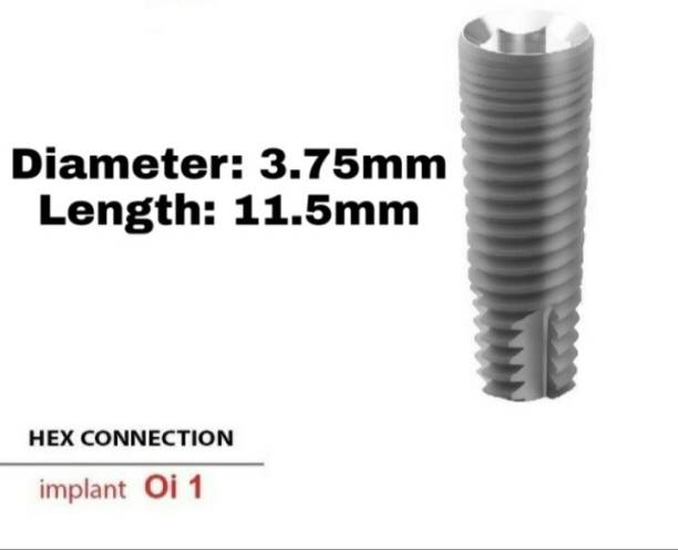 Navkar Surgical Company Dental Spiral Implant with Abutment 3.75mm×11.5mm Dental Implant