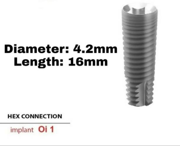 Navkar Surgical Company Dental Spiral Implant with Abutment 4.2mm×16mm Dental Implant