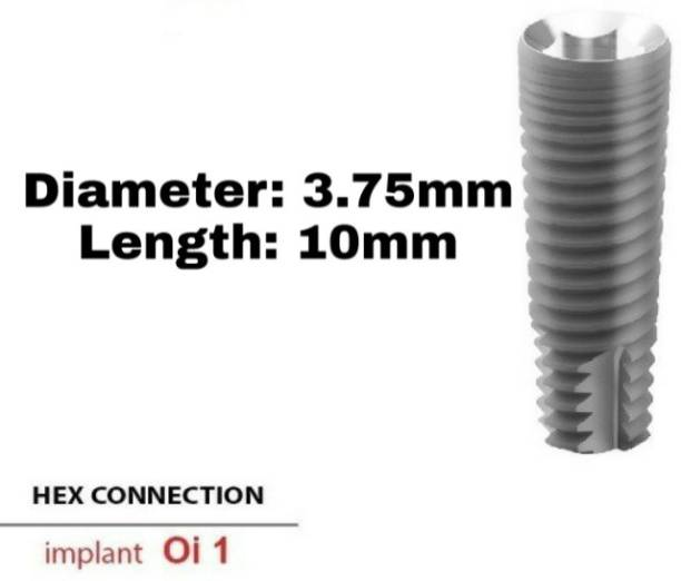 Navkar Surgical Company Dental Spiral Implant with Abutment 3.75mm×10mm Dental Implant