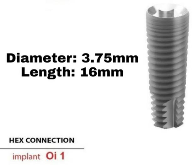 Navkar Surgical Company Dental Spiral Implant with Abutment 3.75mm×16mm Dental Implant