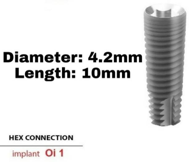 Navkar Surgical Company Dental Spiral Implant with Abutment 4.2mm×10mm Dental Implant