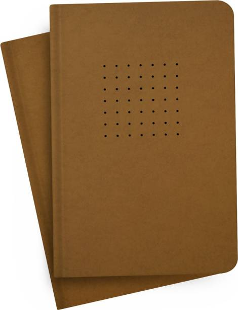 Factor Notes 90 GSM Natural Shade Paper Journal Diary B6 Notebook Dotted Grid 256 Pages