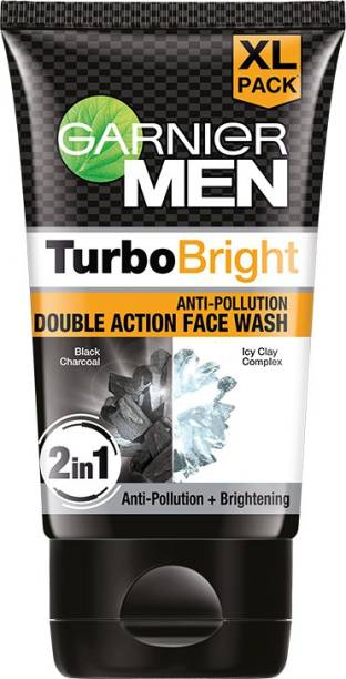 GARNIER Men Power White Double Action Charcoal , 150gm Face Wash