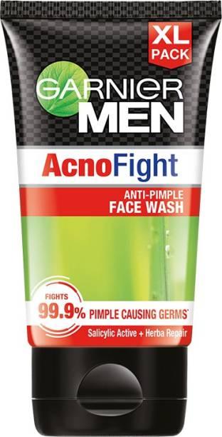 GARNIER Men Acno Fight Anti-Pimple Facewash for Acne Prone Skin, 150g Face Wash