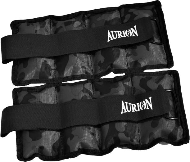 Aurion Wrist/Ankle Weights 1 KG X 2 Fitness Band Pack of 2) Black Wrist Weight