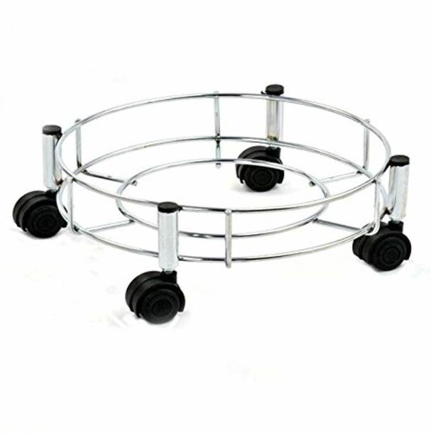 RAICHAND'S Stainless Steel Cylinder Trolley Movable with Wheels Gas Cylinder Trolley