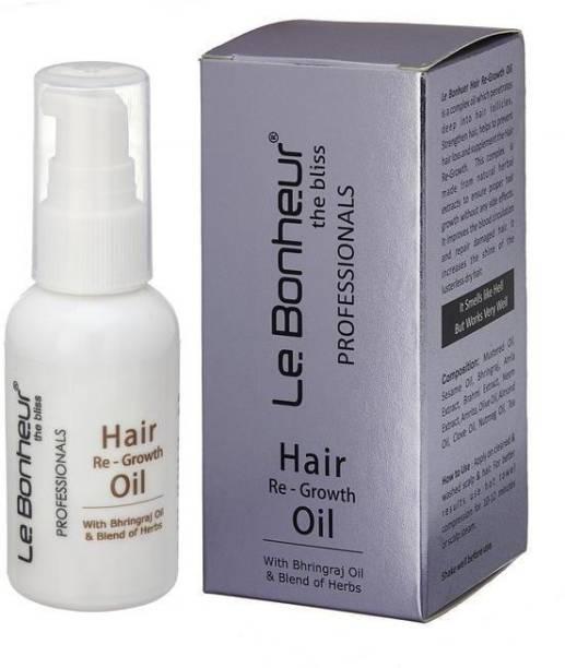 Le Bonheur Hair Regrowth Hair Oil   Reduce Hair Fall  Promotes Hair Regrowth Hair Oil
